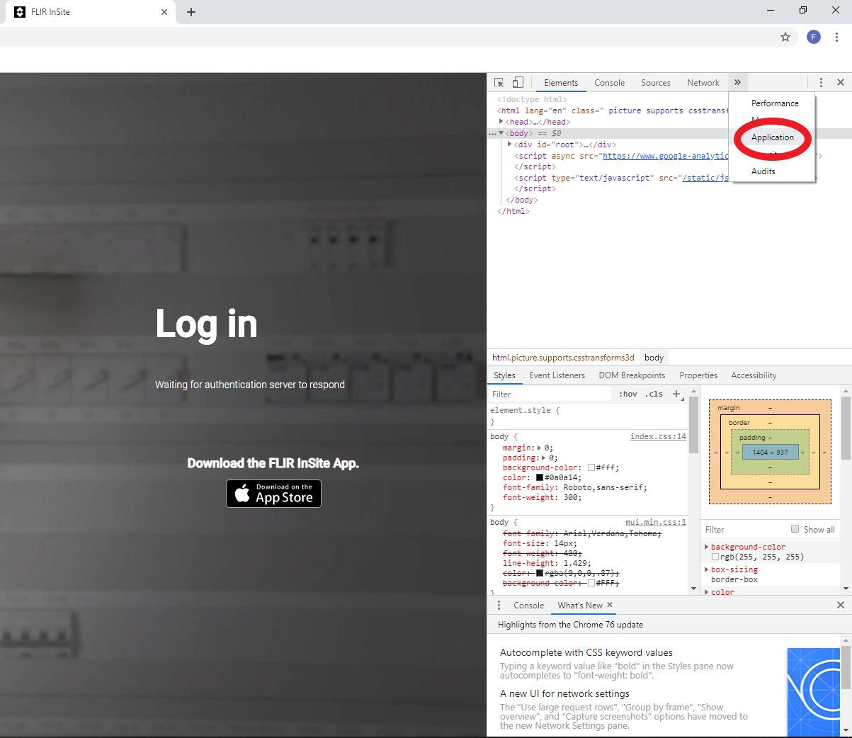 Cannot register/login to FLIR InSite?