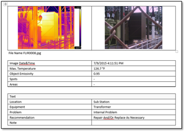 Report studio template tutorial for Thermal imaging report template